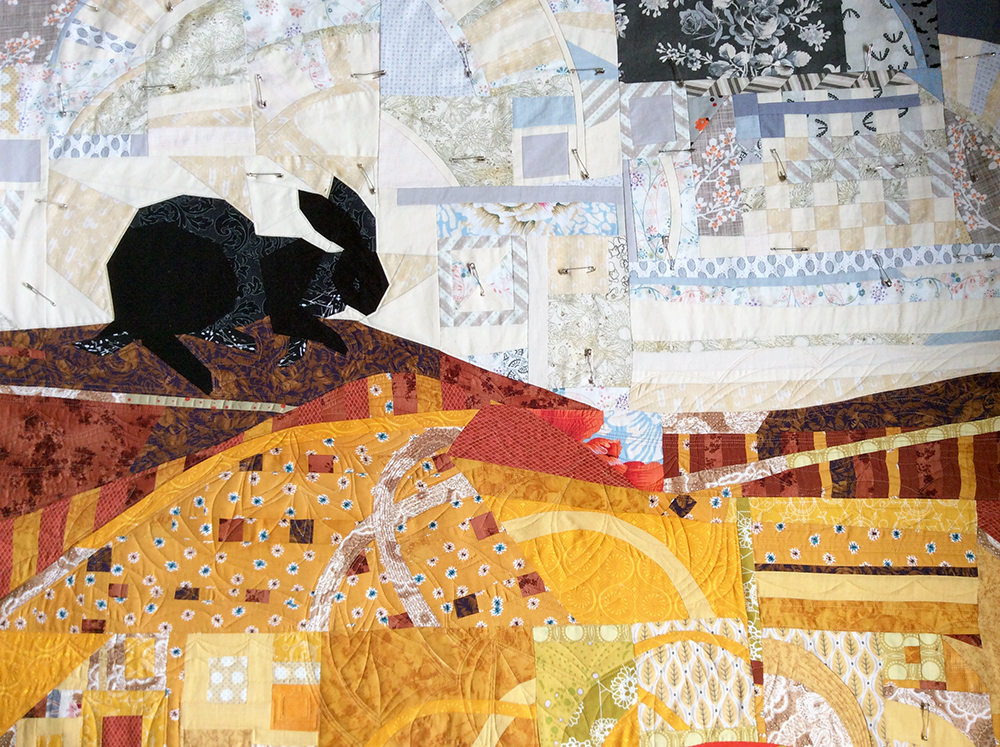 Rabbit Nest quilting